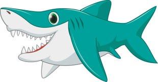 Desenhos animados do tubarão Fotografia de Stock Royalty Free