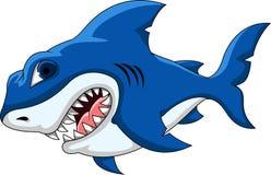 Desenhos animados do tubarão para você projeto Imagens de Stock