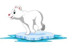 Desenhos animados do urso polar ilustração royalty free