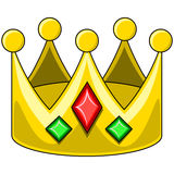 Desenhos animados do vetor da coroa Imagem de Stock Royalty Free