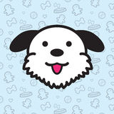 Desenhos animados do vetor do ícone do cão Foto de Stock Royalty Free