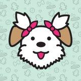 Desenhos animados do vetor do ícone do cão Fotos de Stock Royalty Free