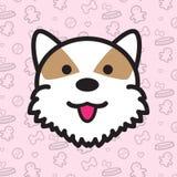 Desenhos animados do vetor do ícone do cão Imagem de Stock Royalty Free