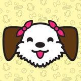 Desenhos animados do vetor do ícone do cão Fotos de Stock