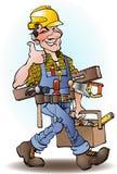 Desenhos animados do vetor do carpinteiro Foto de Stock Royalty Free