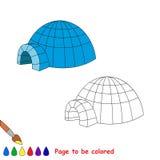 Desenhos animados do vetor do iglu a ser coloridos Foto de Stock