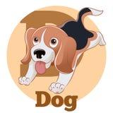 Desenhos animados Dog3 de ABC Fotos de Stock
