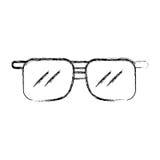 Desenhos animados dos óculos de sol da tração do esboço Imagem de Stock