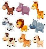 Desenhos animados dos animais Foto de Stock Royalty Free