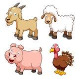 Desenhos animados dos animais de exploração agrícola Imagens de Stock