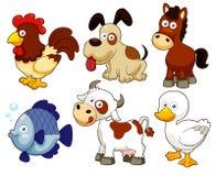 Desenhos animados dos animais de exploração agrícola Fotos de Stock Royalty Free