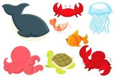 Desenhos animados dos animais marinhos Foto de Stock