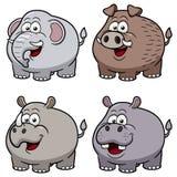 Desenhos animados dos animais selvagens Fotos de Stock
