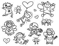 Desenhos animados dos anjos do vetor Fotos de Stock Royalty Free