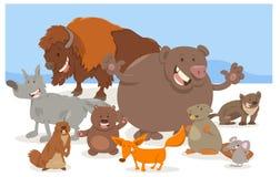 Desenhos animados dos caráteres do animal selvagem Imagens de Stock Royalty Free