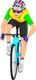 Desenhos animados dos ciclistas Fotos de Stock