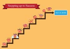 Desenhos animados dos cérebros que intensificam ao sucesso Imagens de Stock