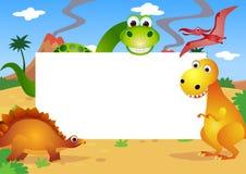 Desenhos animados dos dinossauros Fotografia de Stock Royalty Free