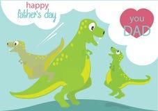 Desenhos animados dos dinossauros Fotos de Stock