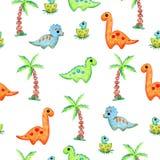 Desenhos animados dos dinossauros ilustração royalty free