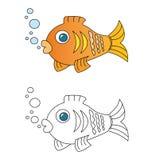 Desenhos animados dos peixes Imagens de Stock