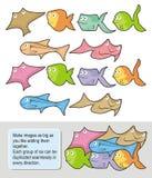 Desenhos animados dos peixes Imagem de Stock Royalty Free