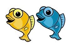 Desenhos animados dos peixes Foto de Stock Royalty Free