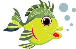 Desenhos animados dos peixes ilustração do vetor