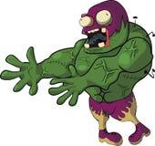 Desenhos animados dos povos dos zombis engraçados Fotos de Stock