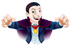 Desenhos animados Dracula de Dia das Bruxas Fotos de Stock