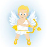 Desenhos animados engraçados Cupidon Foto de Stock Royalty Free