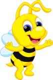 Desenhos animados engraçados da abelha ilustração stock