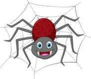Desenhos animados engraçados da aranha Foto de Stock