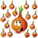 Desenhos animados engraçados da cebola Imagens de Stock