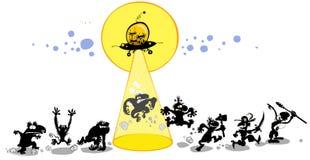 Desenhos animados engraçados da evolução Foto de Stock Royalty Free