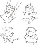 Desenhos animados engraçados da vitela Imagens de Stock