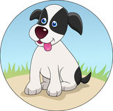 Desenhos animados engraçados do cão Imagens de Stock