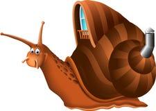 Desenhos animados engraçados do caracol Foto de Stock Royalty Free