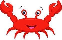 Desenhos animados engraçados do caranguejo ilustração royalty free