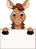 Desenhos animados engraçados do cavalo ilustração do vetor