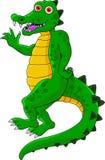Desenhos animados engraçados do crocodilo Imagens de Stock Royalty Free