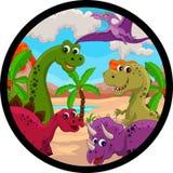 Desenhos animados engraçados do dinossauro Imagem de Stock