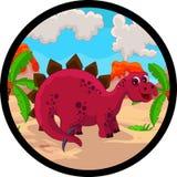 Desenhos animados engraçados do dinossauro Foto de Stock