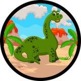 Desenhos animados engraçados do dinossauro Fotos de Stock