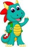 Desenhos animados engraçados do dragão ilustração stock