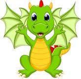 Desenhos animados engraçados do dragão Fotografia de Stock Royalty Free