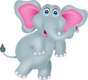 Desenhos animados engraçados do elefante Imagens de Stock