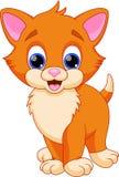 Desenhos animados engraçados do gato ilustração do vetor