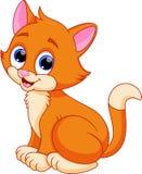 Desenhos animados engraçados do gato Fotos de Stock Royalty Free