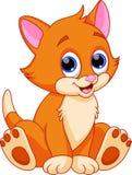 Desenhos animados engraçados do gato Imagem de Stock Royalty Free